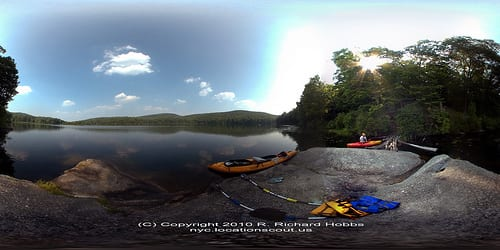 Silvermine Lake Pano by © Location Scout R. Richard Hobbs - nyc.locationscout.us