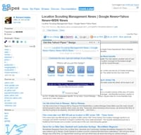 Location Scouting / Location Management News Yahoo Pipe